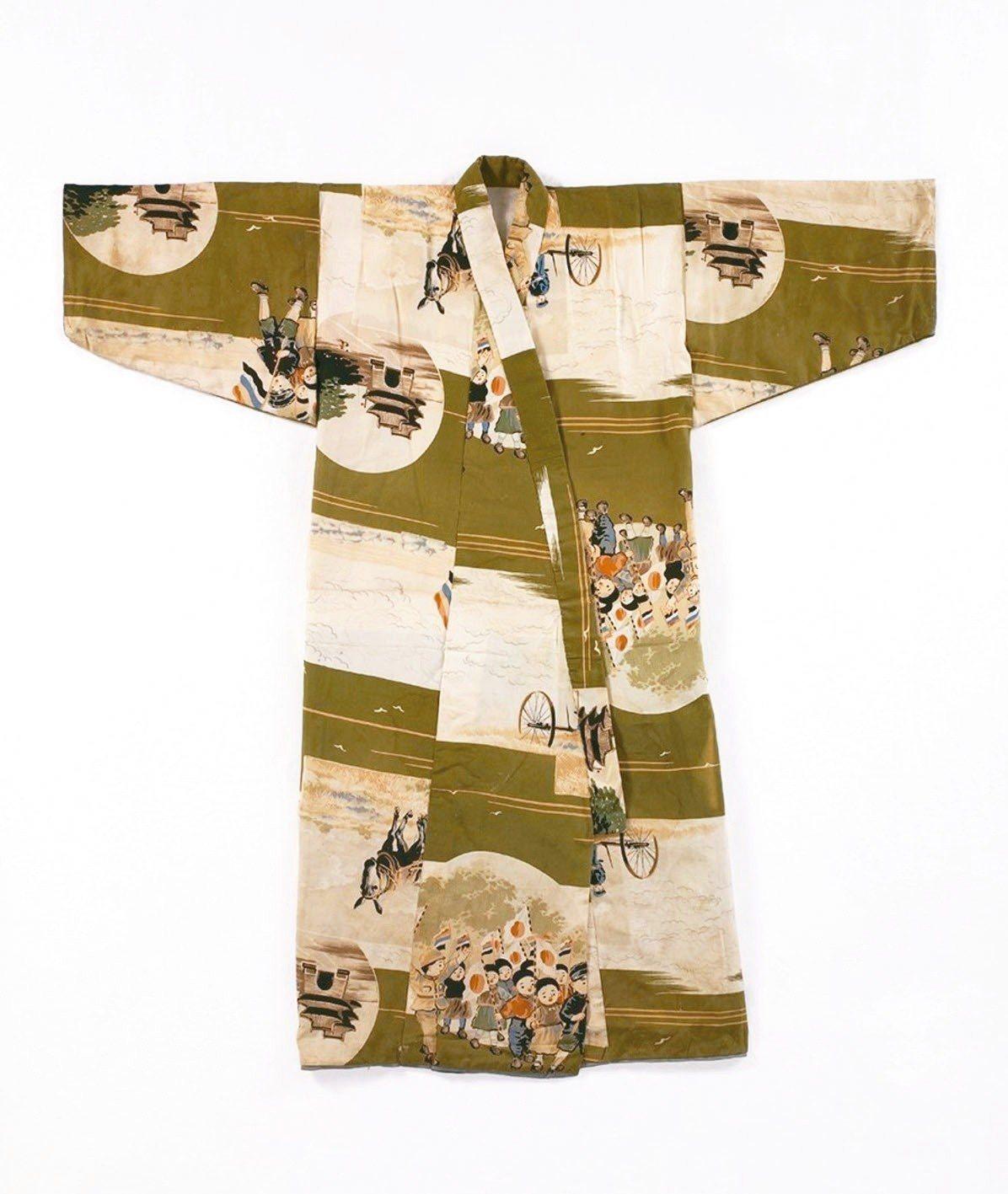 圖1: 男童絲織和服,二十世紀初。