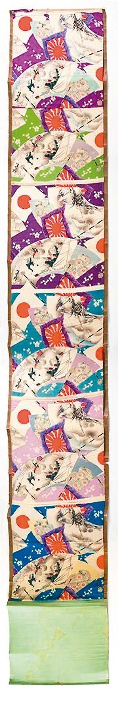 圖3:印有六種顏色的和服棉布料,1904年。