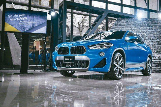 全新BMW X2,是一部創新有趣的豪華跨界跑旅。 圖/陳志光、汎德