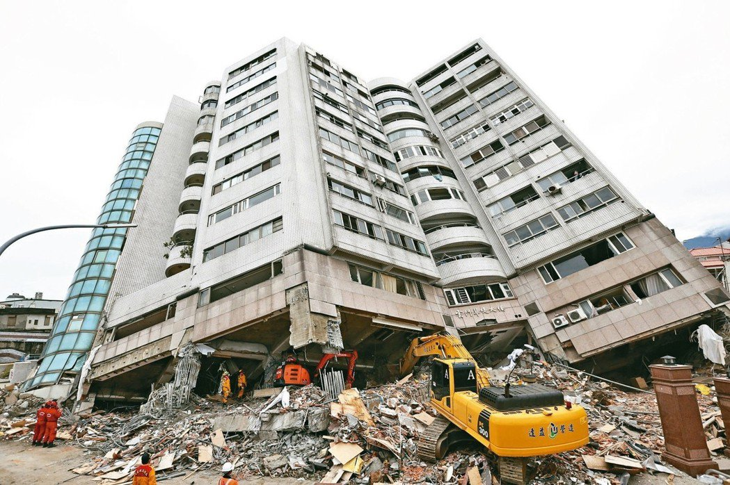 2018年2月6日花蓮大地震,重創了花蓮。 聯合報系資料照