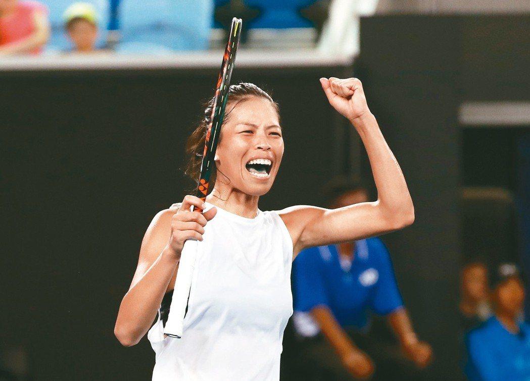 謝淑薇在邁阿密網賽女單闖進第三輪,為賽史台將第二人。 路透