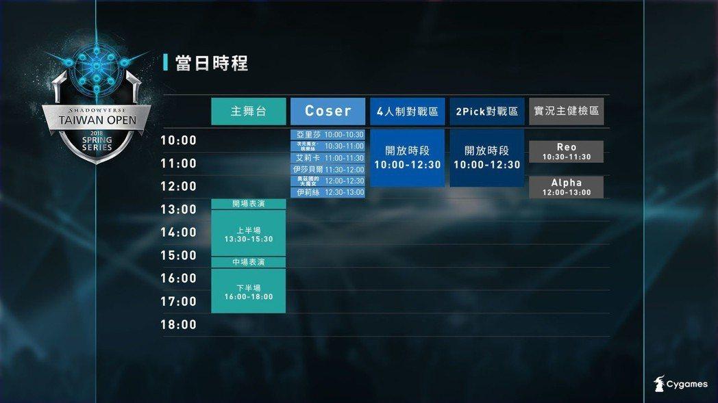 ▲3/24 春季總決賽─賽事主舞台&各項周邊活動時間表。