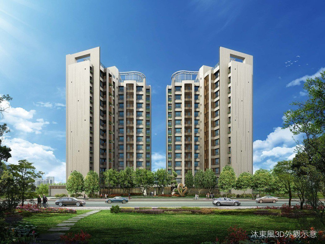 核心地段價值、頂級建築規劃,讓「沐東風」成為台南新東區名宅新指標。 圖片提供/和...