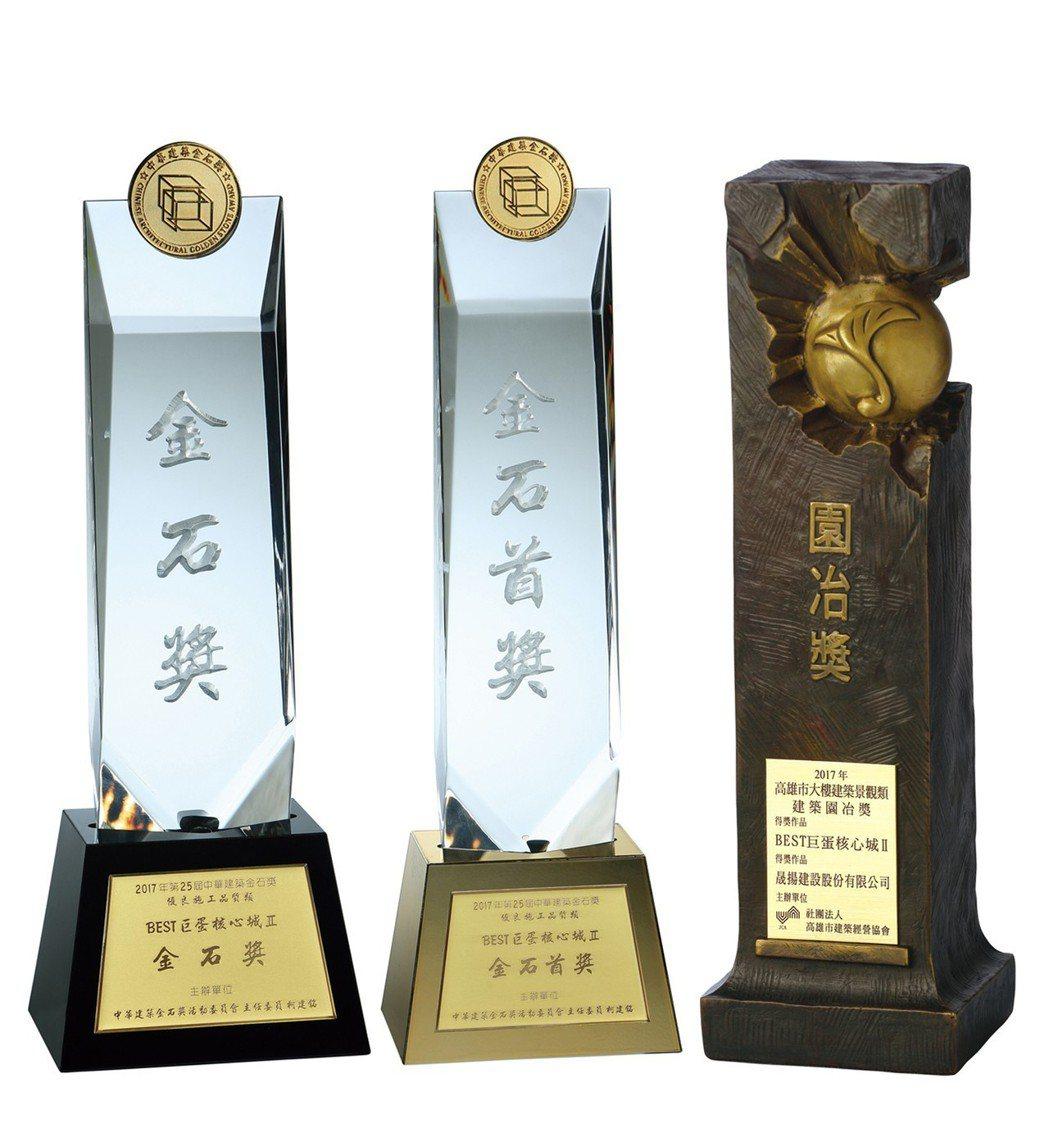 「BEST」榮獲園冶奬、金石奬、金石首獎。 圖片提供/晟揚建設