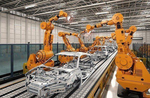圖2 : 機器手臂的相互連結與共工,是彈性化生產的重要設計。(Source: I...