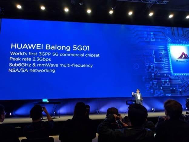 圖三、華為推出5G商用晶片Balong 5G01 (圖片來源:搜狐科技視界)