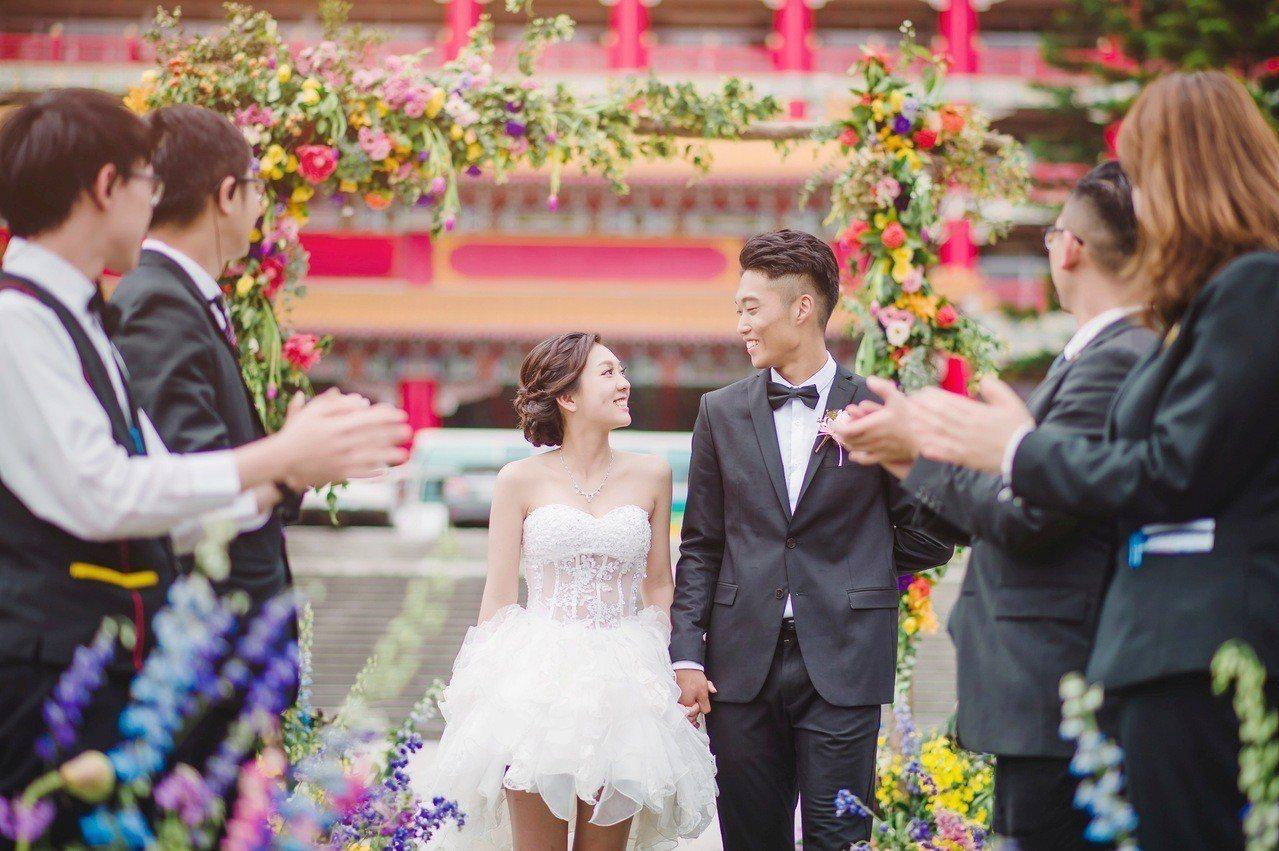 圓山飯店主推戶外婚禮。圖/圓山飯店提供