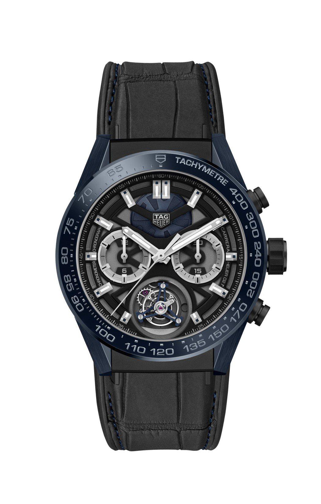 泰格豪雅Carrera「Tête de Vipère」陀飛輪精密計時腕表,限量1...