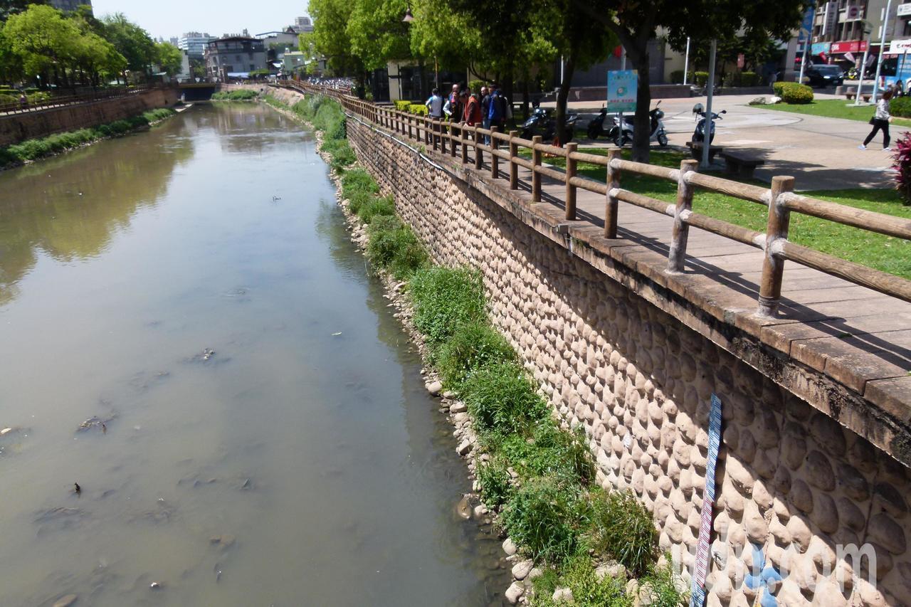 新街溪逢枯水期威脅魚群生態。記者鄭國樑/攝影