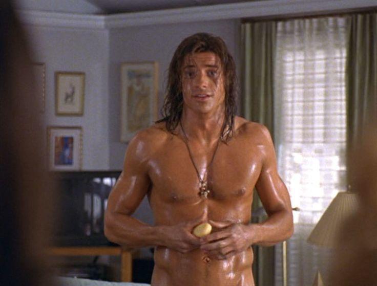 布蘭登費雪在「森林泰山」中肌肉結實健美,被無數女性視為性感偶像。圖/翻攝自You