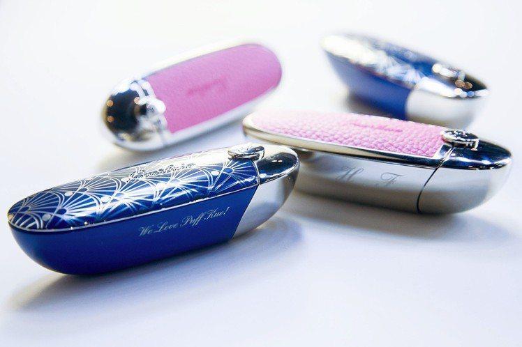 嬌蘭Rouge G 紅寶之吻高訂唇膏有15款時尚彩殼。圖/嬌蘭提供