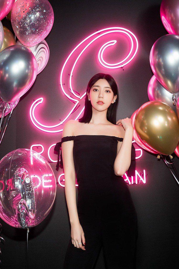 郭雪芙是法國嬌蘭的台灣代言人,為品牌帶進更多年輕客源。圖/嬌蘭提供