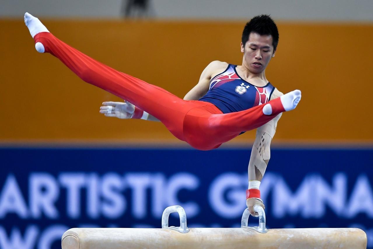 李智凱近期積極爭奪奧運積分,連續3站奪下世界盃鞍馬銀牌。 新華社