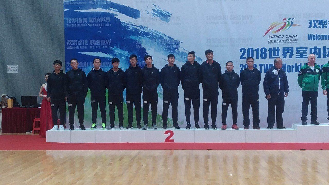 中華男子拔河代表隊3月10日在中國徐州所舉辦的世界盃男子560公斤決賽,因裁判記...