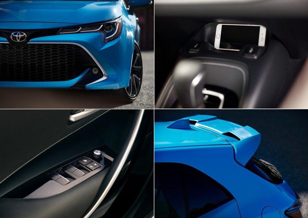 Toyota Corolla Hatchback 車室也提供無線充電板。 摘自T...
