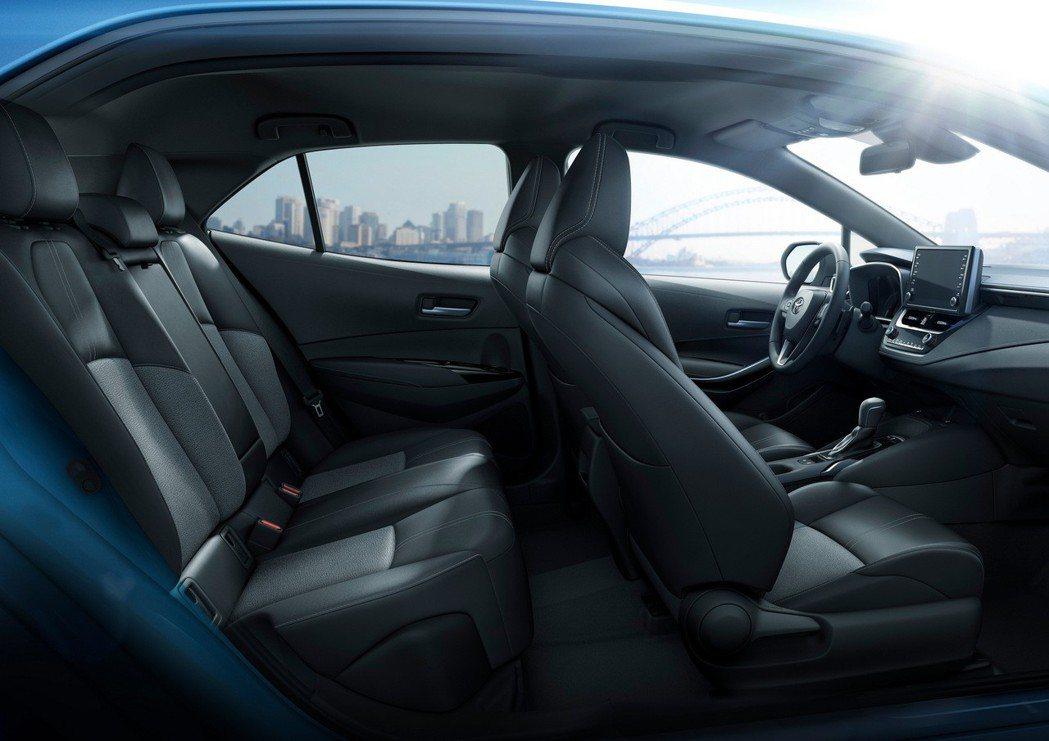 Toyota Corolla Hatchback 內裝。 摘自Toyota