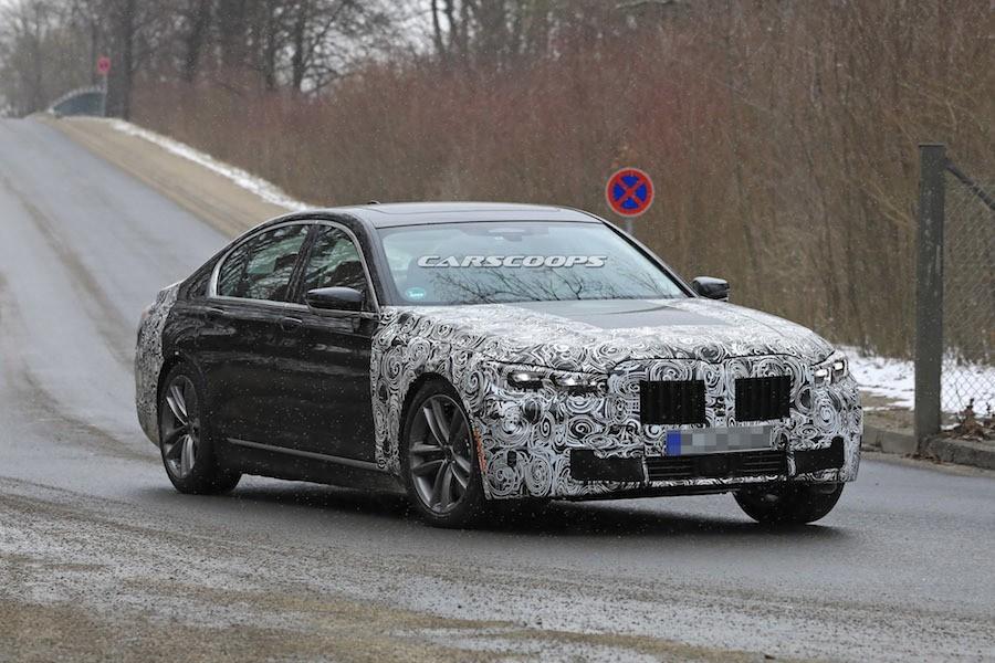 BMW小改7系列測試捕獲 更加靠攏X7與8系列