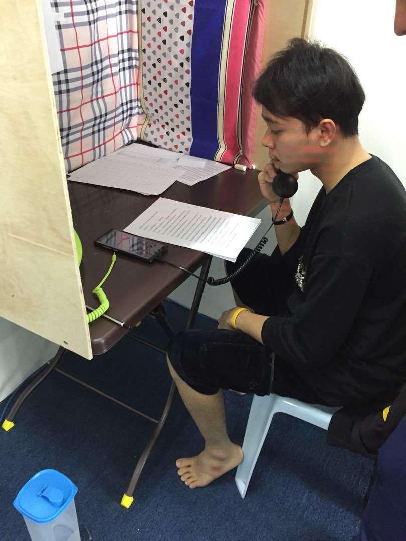 詐騙集團吸收泰國籍人士,詐騙泰國被害人。照/刑事局提供
