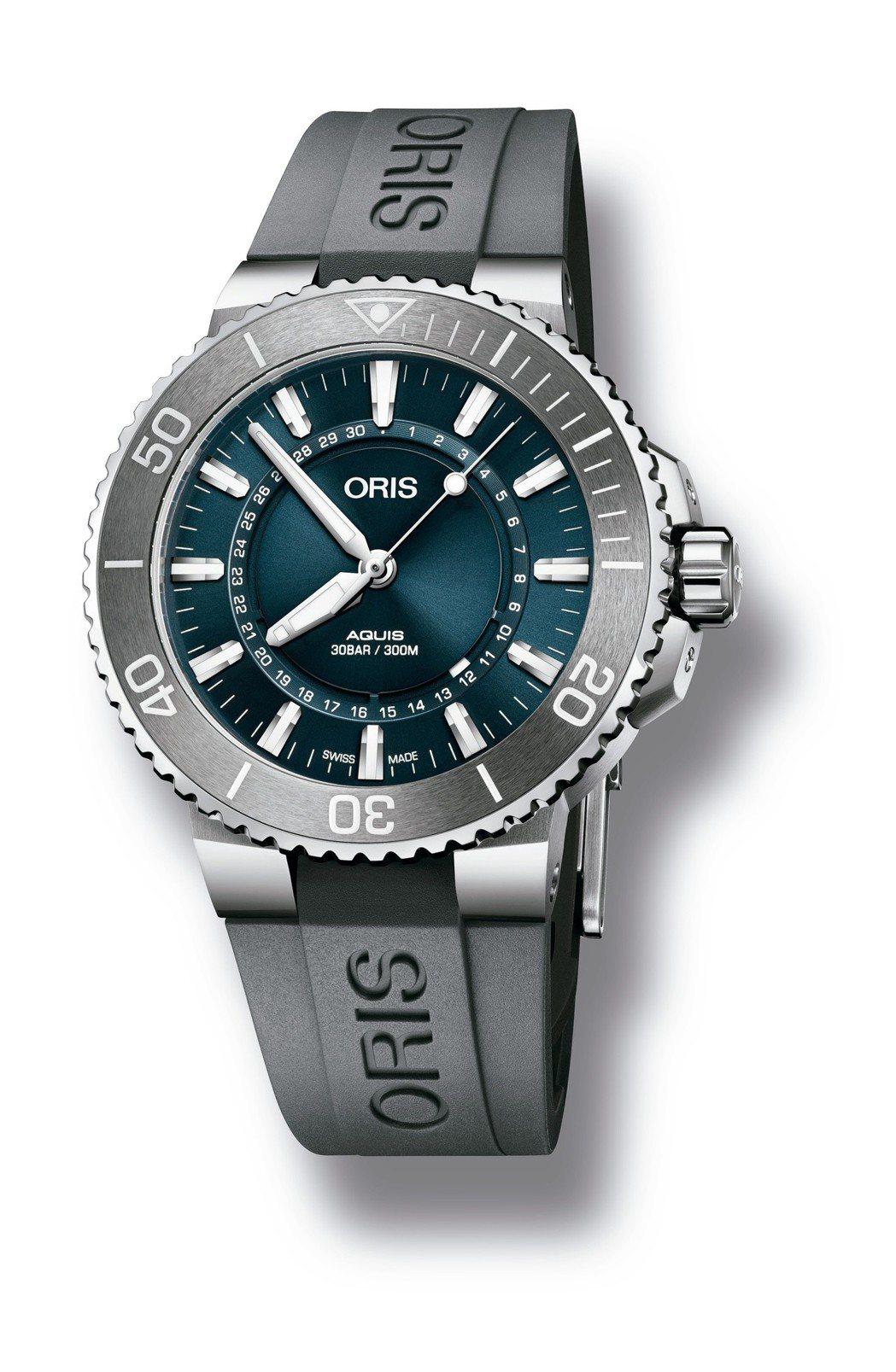 Oris生命之源腕表,具有環形日期顯示,表盤、橡膠表帶配色皆為首次使用,限量2,...