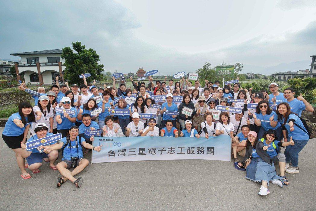 台灣三星三度舉辦「三星稻田認養公益計畫」志工活動,以實際行動回饋在地。圖/三星提...