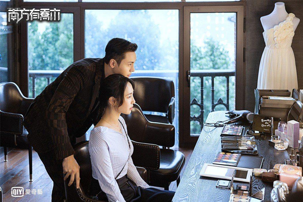 陳偉霆、白百何拍攝「南方有喬木」上演一段愛情故事。圖/愛奇藝台灣站提供