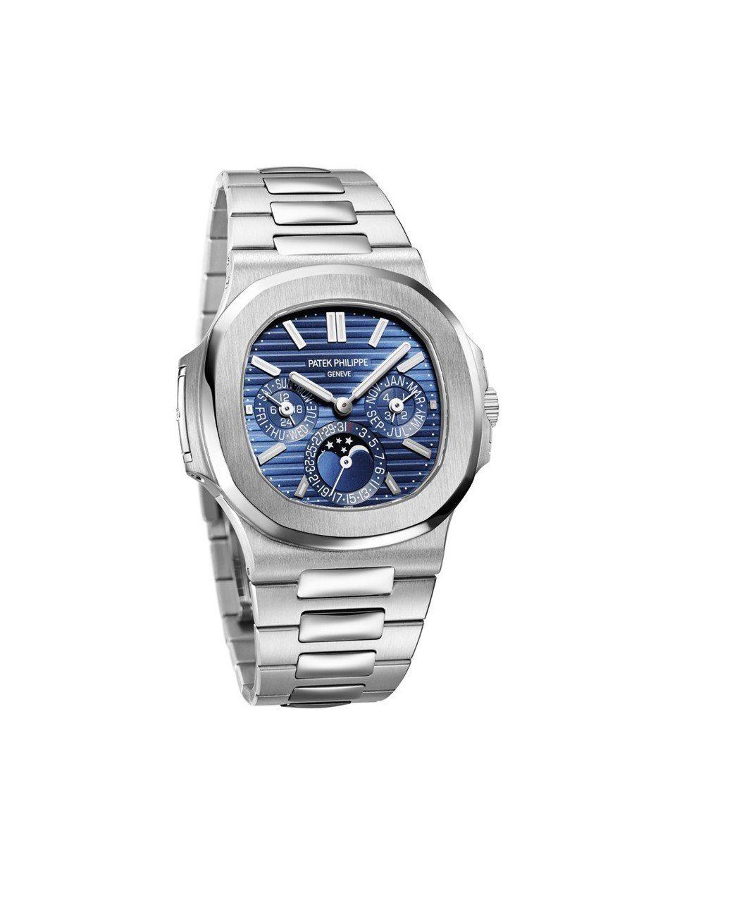 百達翡麗金鷹系列萬年曆5740腕表,18K白金表殼,搭載240機芯,約326萬1...