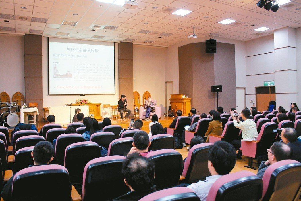 鄒川雄昨天在嘉義基督教醫院舉辦「生前告別式」。 記者姜宜菁/攝影