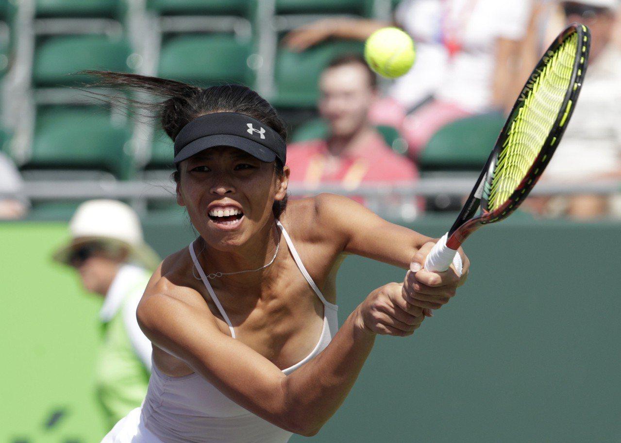 謝淑薇在阿密網賽女單落敗。 美聯社