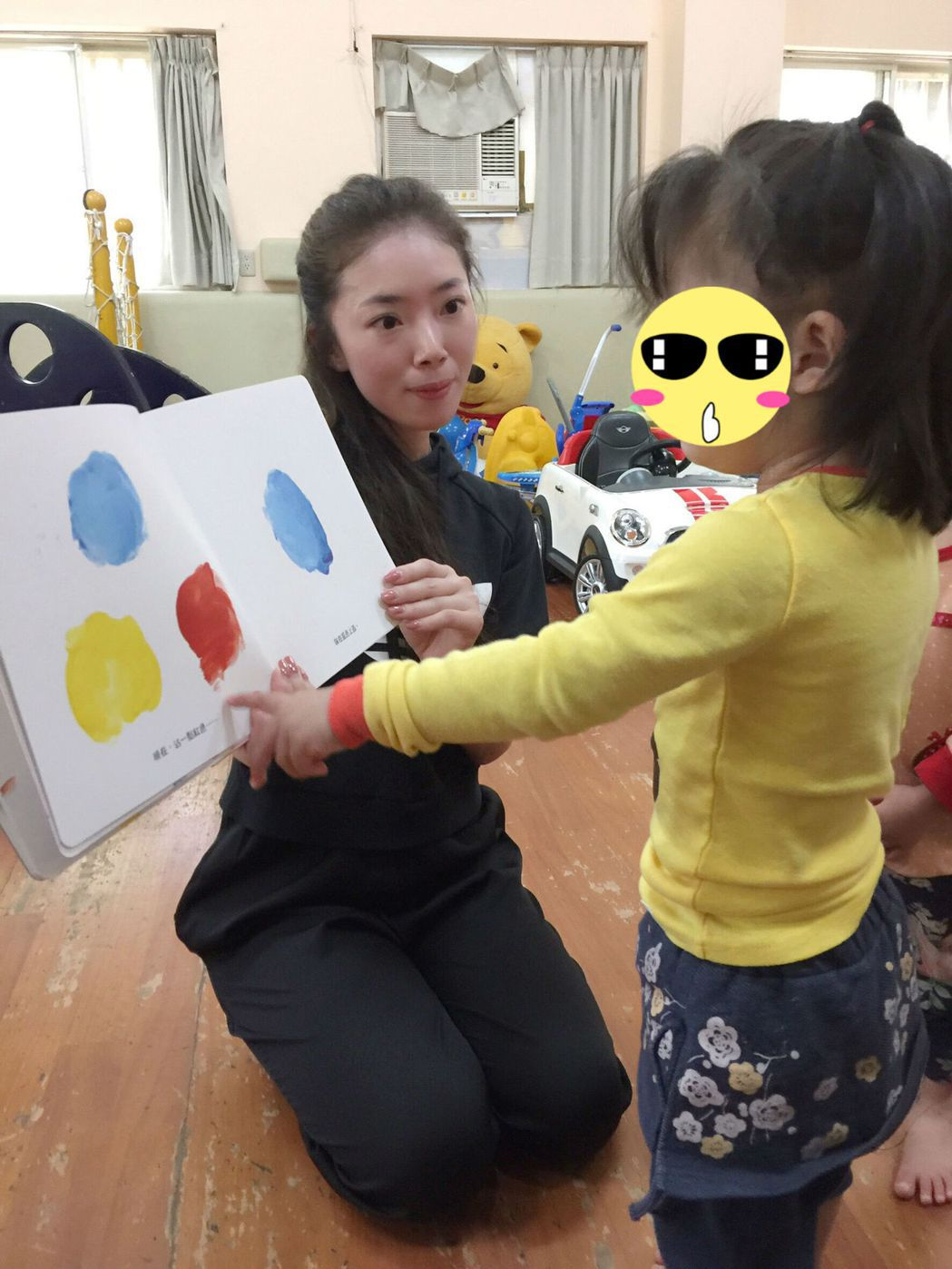 八大主播馬湘瑩常到育幼院探視小朋友。圖/八大提供