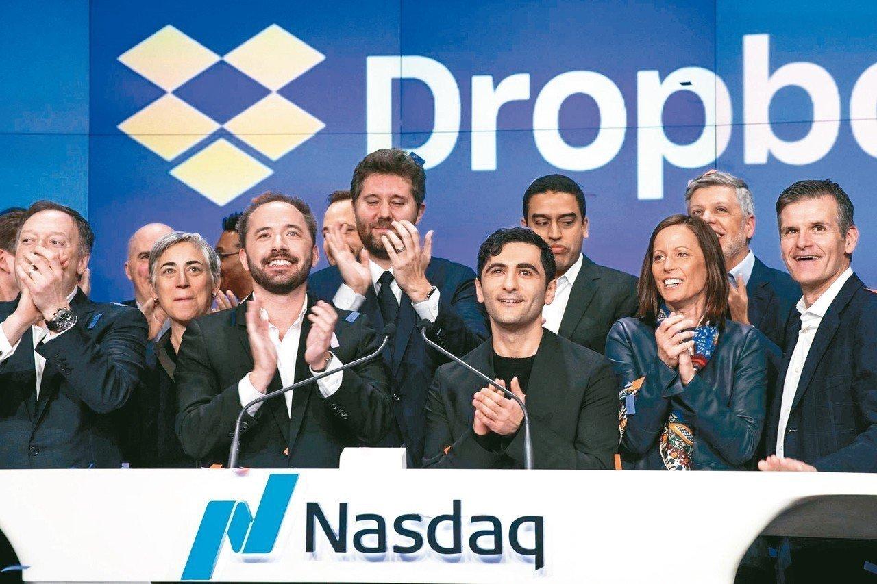 Dropbox股價於上市首日大漲36%,力抗美股大盤指數和科技股重挫的強勁賣壓,...