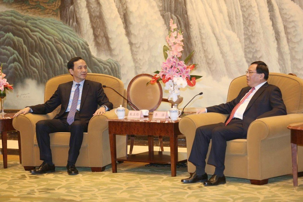 新北市長朱立倫今(25)日晚間與上海市委書記李強會面,希望透過這樣的交流,讓雙方...
