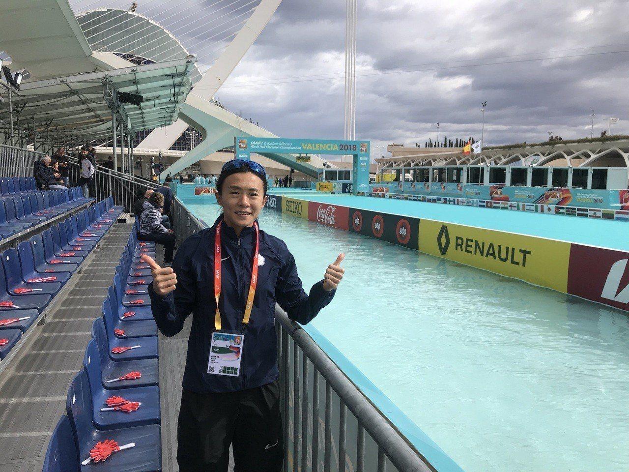 台灣長跑好手謝千鶴參加世界半程馬拉松錦標賽。圖/中華田徑協會提供