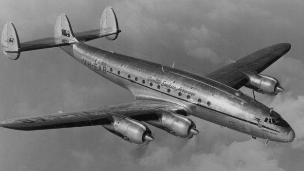 澳航「袋鼠航線」在1947和1954年間使用洛克希德星座客機。澳航資料照片