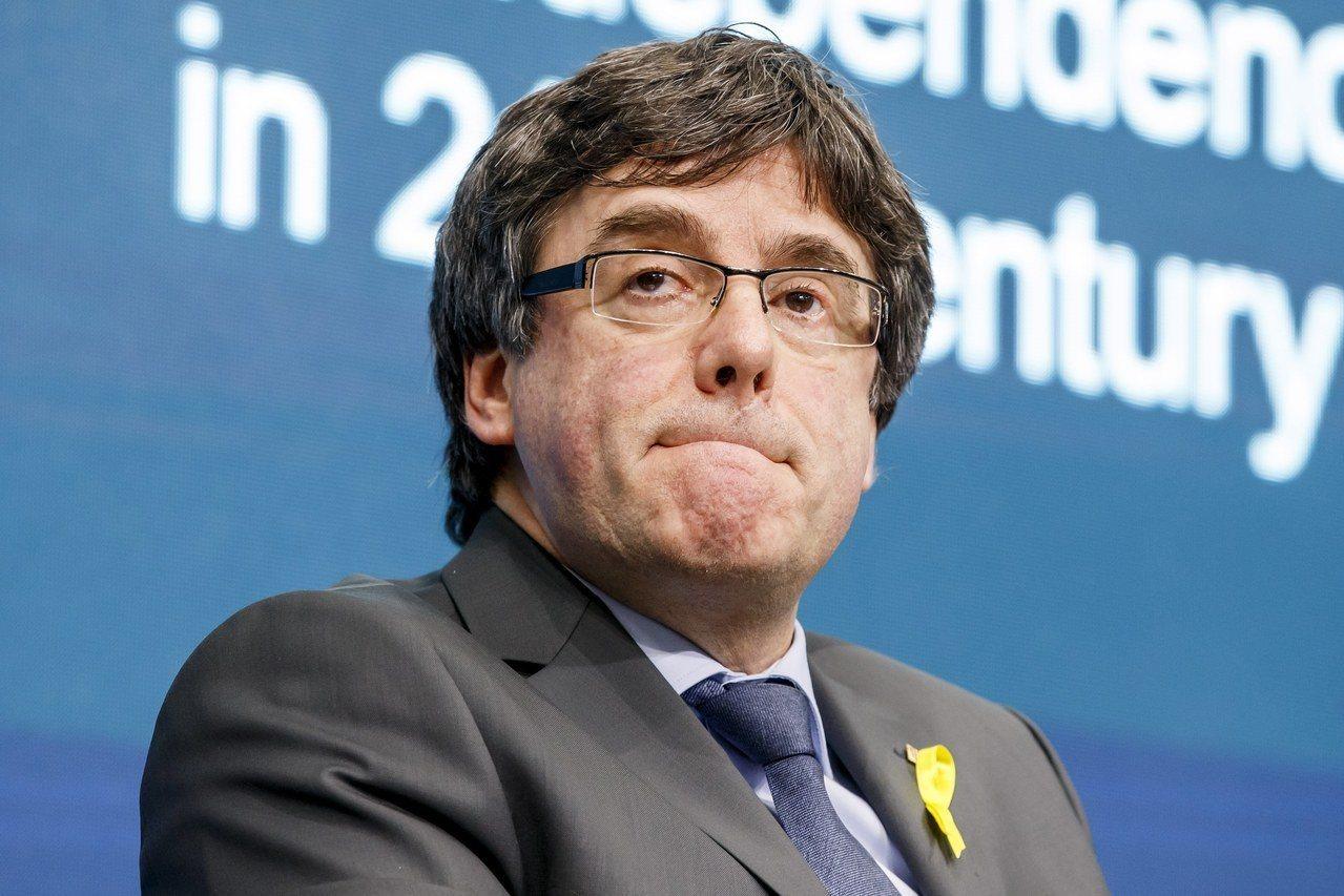 西班牙加泰隆尼亞自治區前主席普伊格蒙特。歐新社