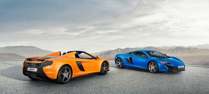 McLaren 650S,有Coupe和 Spider車型。 摘自McLaren