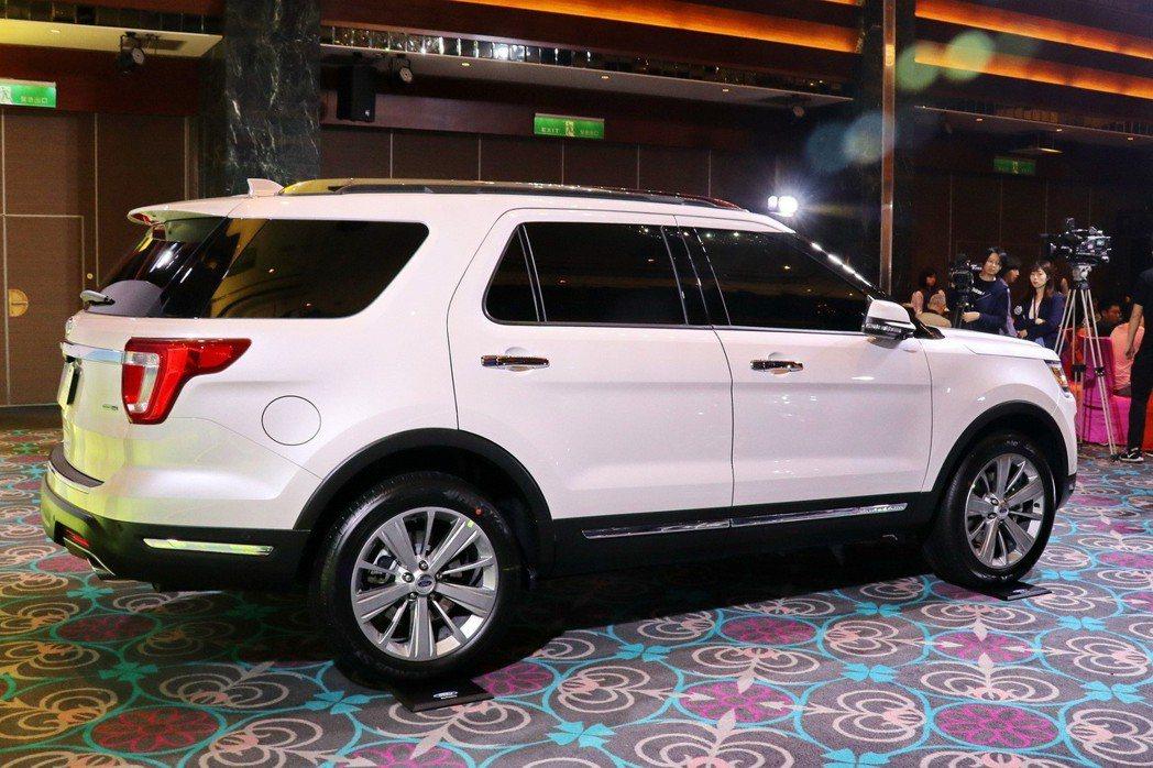 Ford Explorer7人座休旅車擁有更為優異的軸距表現,預期提供更好的乘坐...