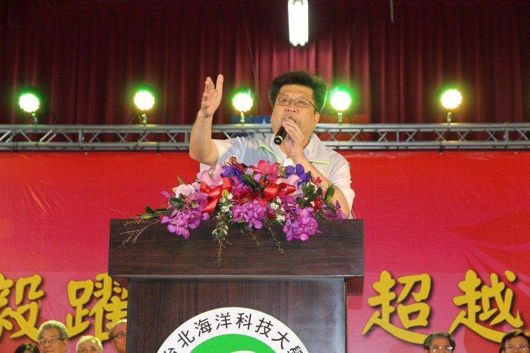 台北海洋科技大學董事長林世宗致詞。 台北海洋科技大學/提供。