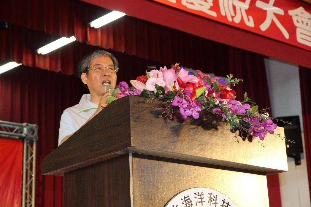 台北海洋科技大學校長唐彥博致詞。 台北海洋科技大學/提供。