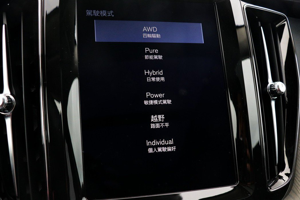 XC60 T8透過Drive Mode模式的切換,可以因應不同駕駛需求。 記者陳威任/攝影