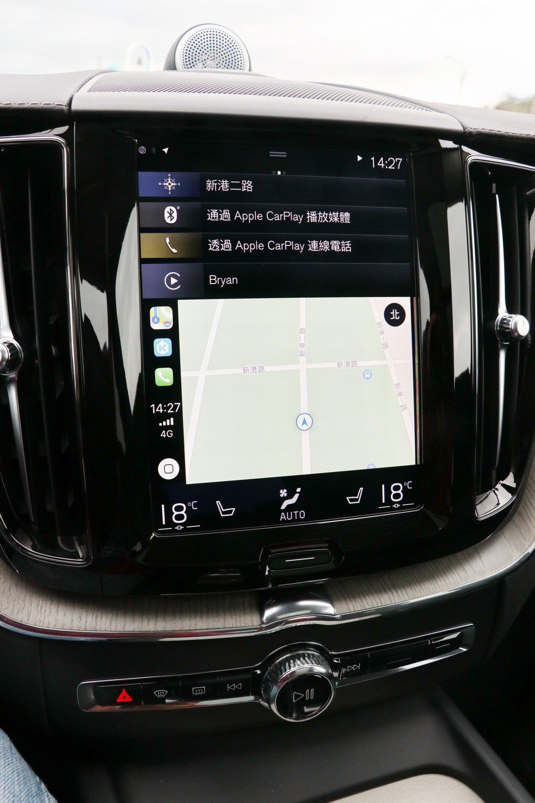 9吋Sensus Connect整合式觸控螢幕。 記者陳威任/攝影