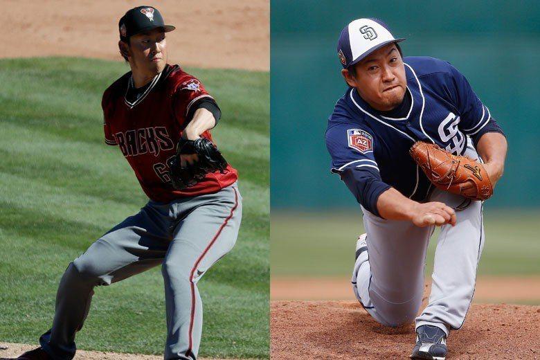 從日職來挑戰大聯盟的平野佳壽(左)和牧田和久(右)表現都相當不錯,只可惜媒體焦點...