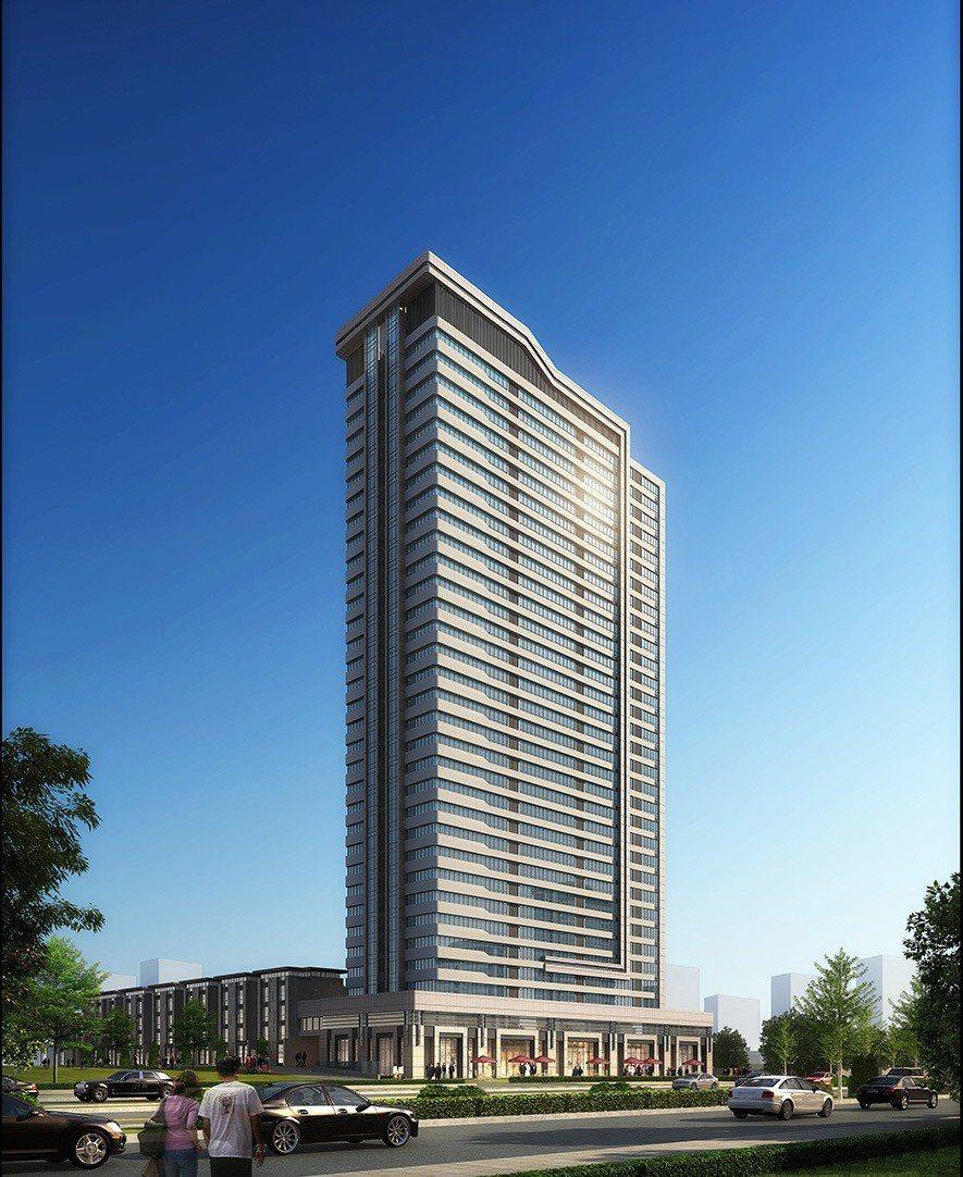 (圖)竹村空間設計 位於廈門的作品《陽光公寓》沿街透視圖
