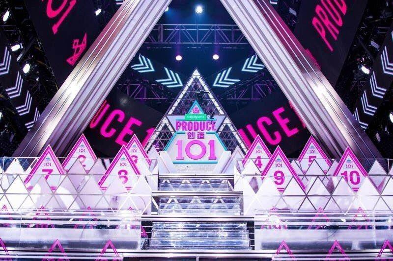 「創造101」舞台比照韓國。圖/摘自微博