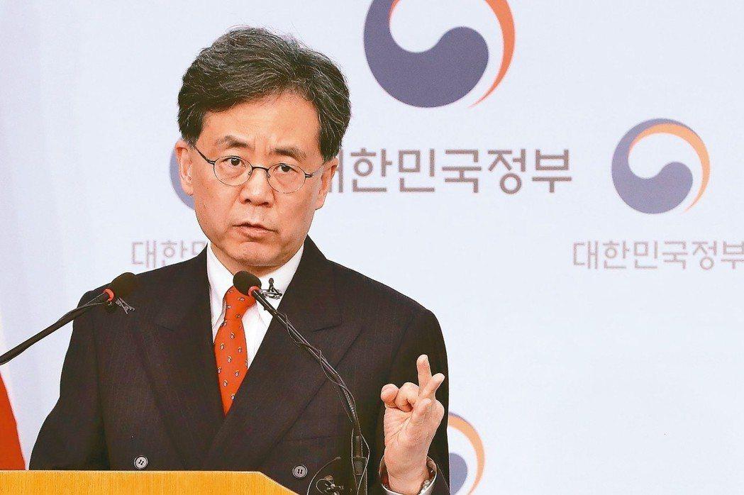 南韓貿易部長金鉉宗。 (法新社)
