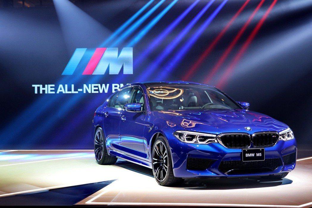 第六代BMW M5正式導入台灣市場。 記者陳威任/攝影