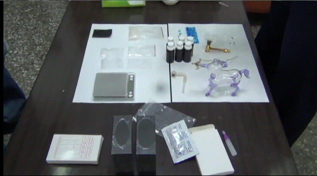 新竹市張姓男子涉嫌持有大批毒品被警方查獲法辦。記者黃宣翰/翻攝