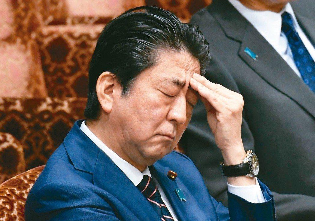 日本首相安倍晉三面臨民意支持度下跌的困境。法新社