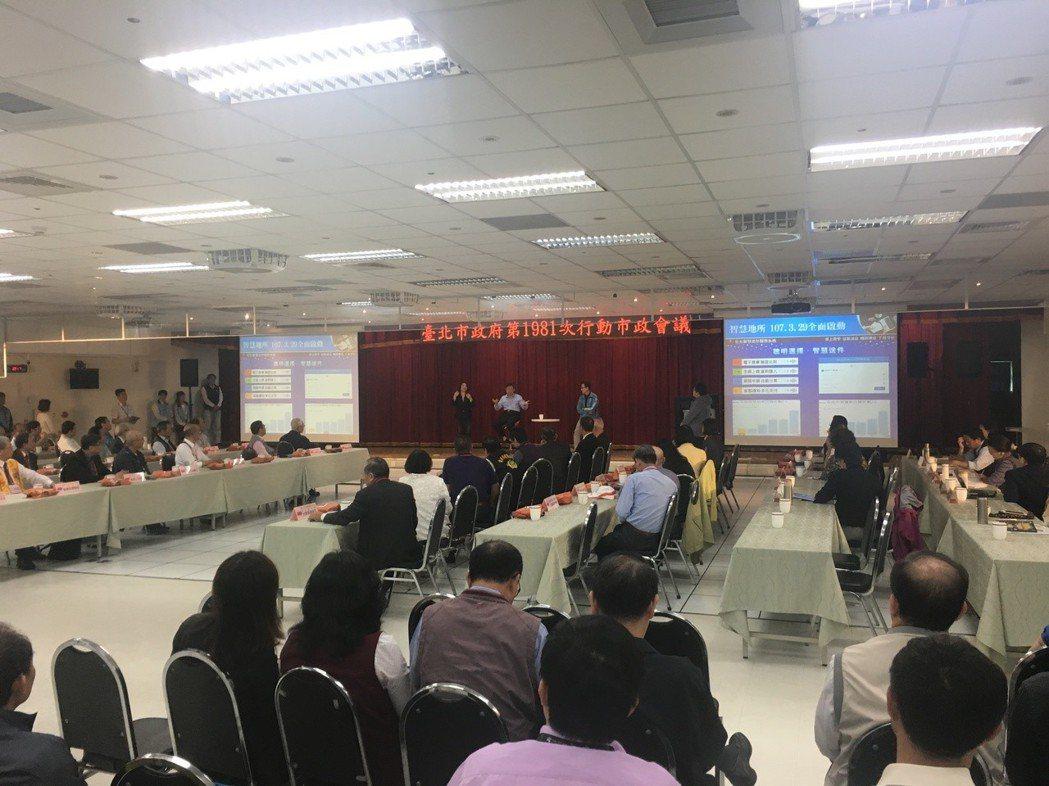 台北市長柯文哲今天出席中山區行動市政會議。記者張世杰/攝影