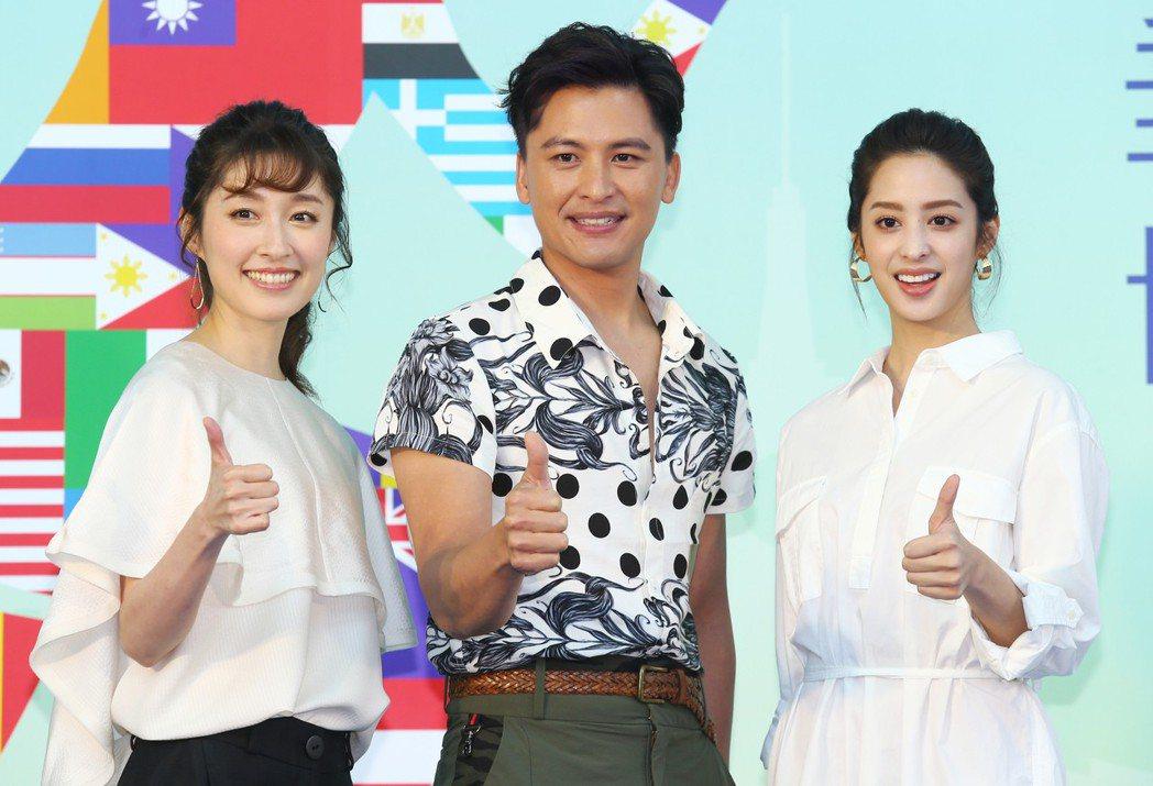 「高塔公主」的主要演員莫允雯(右)、Duncan周群達(中)、田中千繪(左)在台