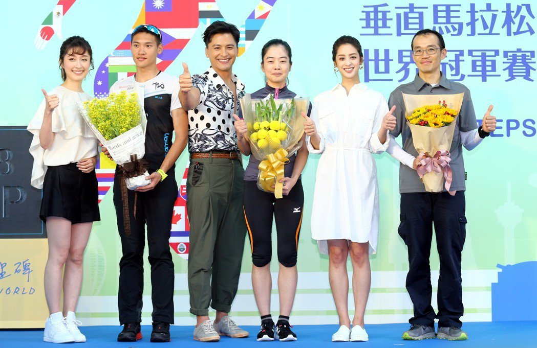 「高塔公主」的主要演員莫允雯(右二)、Duncan周群達(左三)、田中千繪(左)...